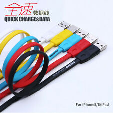 REMAX 8pin Lightning Quick Charging Sync Data Flat Cable for iPhone 5s/6/Plus