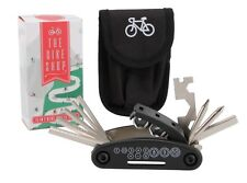 The Bike Shop 15 In 1 Cycling Multitool With Pouch Case. Gift idea. Travel tool.