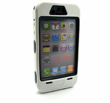 Heavy Duty Builders Workman White Colour Armour Case for iPhone 4 & 4s - STURDY