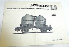 Märklin 4911 Manual de Instrucciones 68 491 An 0461 Ka