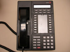Three Refurbished Merlin Legend MLX-16DP Black Phones  (Avaya Lucent MLX 16DP)