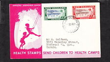 New Zealand Health Stamps 1948 Wellington to Canada Cover Z91