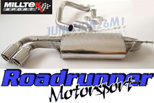 Audi TT MK2 Milltek Exhaust 2.0 TFSI 2wd Cat Back System Twin 90mm JET SSXAU145