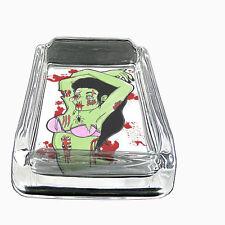 Glass Square Ashtray Zombie Design-005
