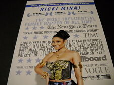 Nicki Minaj Three Time Grammy Nominee 2016 Promo Poster Ad