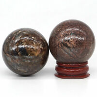 40mm Natural Gemstone Bronzite Sphere Crystal Reiki Healing Specimen Rock Ball