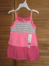 Girl's Jumping Beans Summer Pink Layered Tank Top Size 5 NWT #CL106