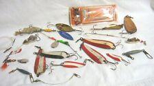 VINTAGE FISHING SPINNERS Misc Lot - ERIE DEARIE / RED EYE / MEPPS / JOHNSON