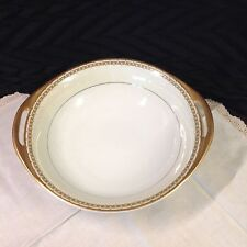 Vintage Haviland, Cream Rim, Gold Trim Round Vegetable Serving Bowl  9 3/8""