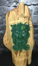 "26"" Red Cedar Green Man Wood Carved Statue"