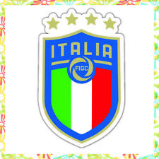 "FIGC NEW UEFA football Italy Die Cut Vinyl Sticker Car Bumper Window decal 4""x3"""