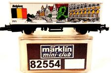 "Z Scale Marklin Mini-Club 82554  ""Belgium"" Special Edition Container Car"