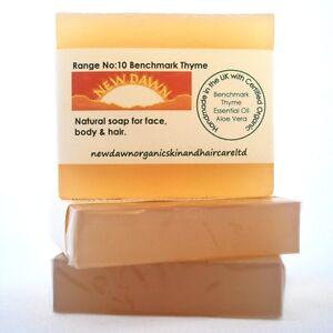 BARGAIN, GIFT SET of 3 x Soaps - Choose from 10 Organic Handmade New Dawn ranges