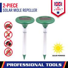 2x Multi Pulse Plus Solar Insect Zapper Ultrasonic Pest Repeller Mouse Snake Bug