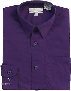 Boy's Classic Fit Long Sleeve Casual Button Down Toddler Kids Dress Shirt