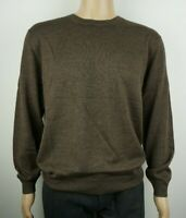 Men`s CHRISTIAN BERG Jumper Crew Neck Wool Blend Size 2XL Brown Pullover