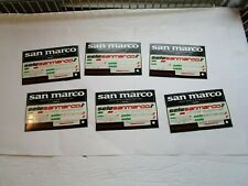 Bicycle Bike Stickers San Marco Selle Square Cards Lot of 6 NOS