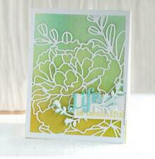 Flower Rectangle Scrapbooking Background Cover  Metal Cutting Dies Cards Making