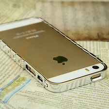New Aluminum Metal Bumper Cases Swiss Watch Edition Design for iPhone 5 5G 5S