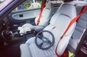 RED MOTORSPORT SEAT BELTS for BMW E30 E34 E36 E46 E92 F10 F40 E90 E91 M3 M5 M