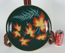 Rosenthal Porcelain Fruit Bowl Tazza Pedestal Dish Compote Maple Leaves Fern