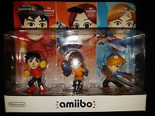 Nintendo Amiibo Mii Brawler, Gunner, Swordfighter Triple 3-Pack |USA NEW SEALED