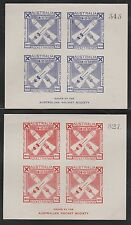 1935-6 Australia Silver Jubilee rocket mail sheets of 4 - Ez4A1a, 5A1a