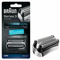 BRAUN 32S SERIES 3 ELECTRIC SHAVER REPLACEMENT FOIL CASSETTE CARTRIDGE - SILVER