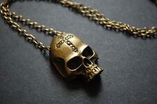 Bronce Alquimia Skull Collar Vintage Kitsch