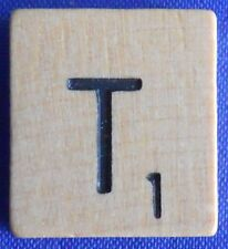 Scrabble Tiles Replacement Letter T Natural Wooden Craft Game Piece Part