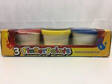 Bazic Finger Paint - Red / Yellow / Blue (3 pack) New Sealed Box