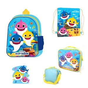 BABY SHARK Kids Toddler Boys Girls School Backpack Or Insulated Lunch Bag Box