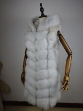 Damen Fox fur vest jacket Echt Weste Pelz Fuchs Pelz weste Fuchs pelz With Gap