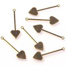20pcs Heart Drop Charms Jewellery, Earring, Pendant Scrapbook, Embelishment etc.