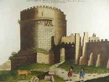 ROM ROMA ROME VIA APPIA CAECILIA METELLA KOL. KUPFERSTICH BLAEU MORTIER 1700