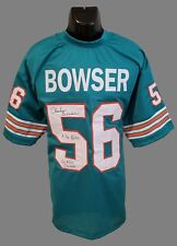 "Miami Dolphins, Charles Bowser ""Killer Bee"" custom Pro Style (teal) Jersey w/JSA"