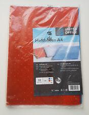 10 Hefthüllen DIN A4 Heftumschläge Rot Blau Transparent Buch Hüllen Umschlag