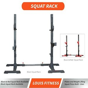Adjustable Squat Rack Fitness Exercise Weight Lifting Gym Home Barbell Stand