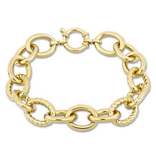 Amour Oval Link Bracelet Yellow Plated Sterling Silver