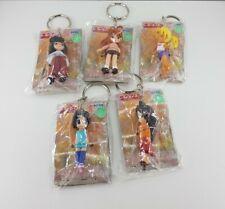 More details for 5x love hina japanese anime sega mini figure keychains/keyrings bundle/joblot