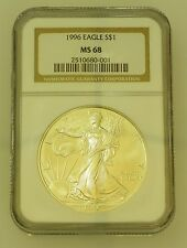 1996 Silver Eagle Dollar NGC MS 68