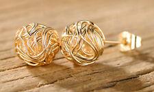 Sevil Woven Love Knot Stud Earrings In 18K Gold Plating