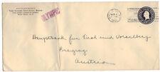 1931 New York NY Wall ST. STA. U443 Entire Large Envelope OLYMPIC Ship Marking