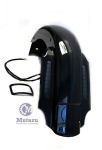 """Mutazu CVO 4"""" Extended Rear Fender w LED & Wire Harness for 93-08 Harley Touring"""