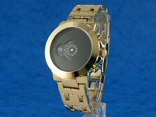 GOLD 70s Jump Hour Digital Vintage Retro Style Led Lcd era Watch Thunda Storm g