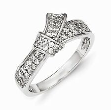 Cheryl M Sterling Silver Cubic Zirconia Knot Ring Size 6 #970
