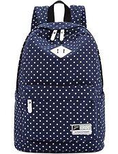 "Canvas Backpack School Shoulder Bag Teenage Girl's Bags for 14"" 15"" Laptop iPad"