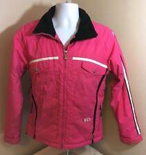 Marker Ski Snowboard Women's size 8 Winter Jacket Coat Pink Full Zip Free Ship!