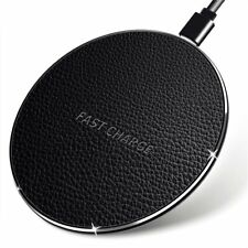 NEW Leather Wireless Fast Charger Charging Induction Charger Charging Pad 7.5W