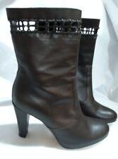 Marisa Rey Designer Brown Full Leather Ankle Boots Heels Spain Size 38 uk 5